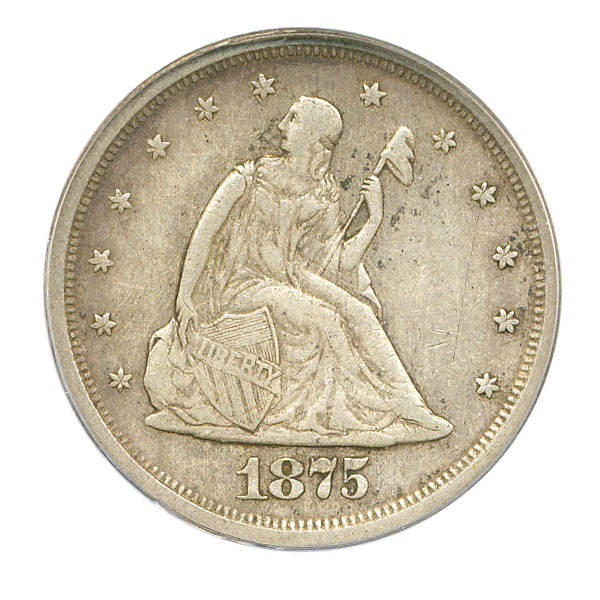 1875 20 cent piece value