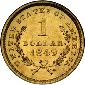 1849 gold dollar value