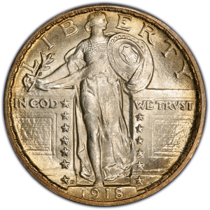 1918 quarter dollar price