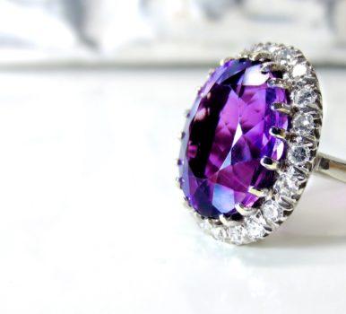 Ultraviolet Gemstone Ring